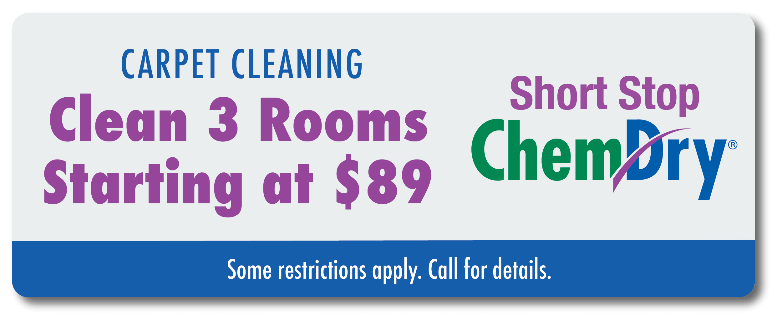 clean 3 rooms carpet for $89 coupon