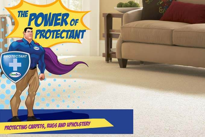 chem-dry protectant protects carpets, upholstery, and rugs